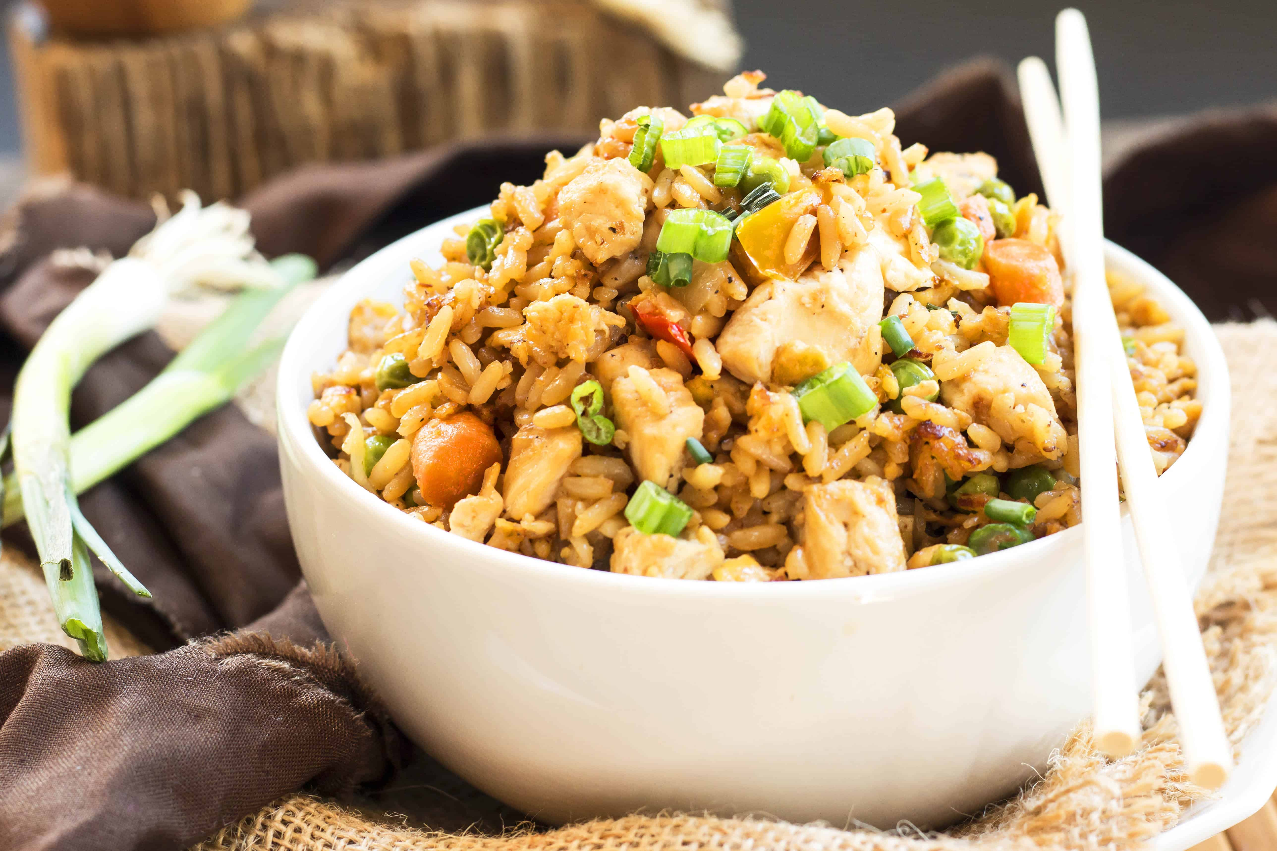 Gluten free chicken fried rice simple easy fried rice recipe chicken fried rice a gluten free chicken fried rice recipe ccuart Gallery