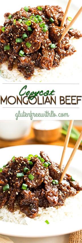 Copycat Mongolian Beef | A gluten free, restaurant copycat Mongolian beef recipe.