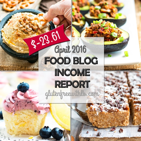 Food Blog Income Report | April 2016
