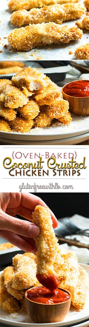 {Oven Baked} Coconut Crusted Chicken Strips