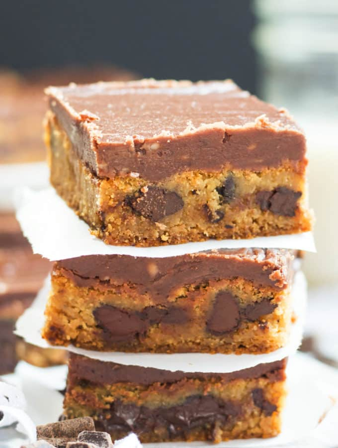 Glazed Chocolate Chunk Blondies