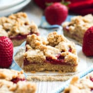 Peanut Butter & Strawberry Jam Crumb Bars