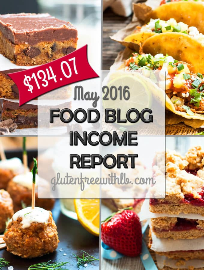 Food Blog Income Report | A detailed report of how the blog Gluten Free with L.B.. is beginning to make money online!