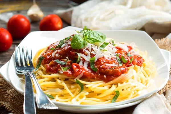 Spaghetti with Pomodoro Sauce