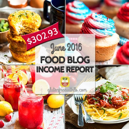 Food Blog Income Report | June 2016