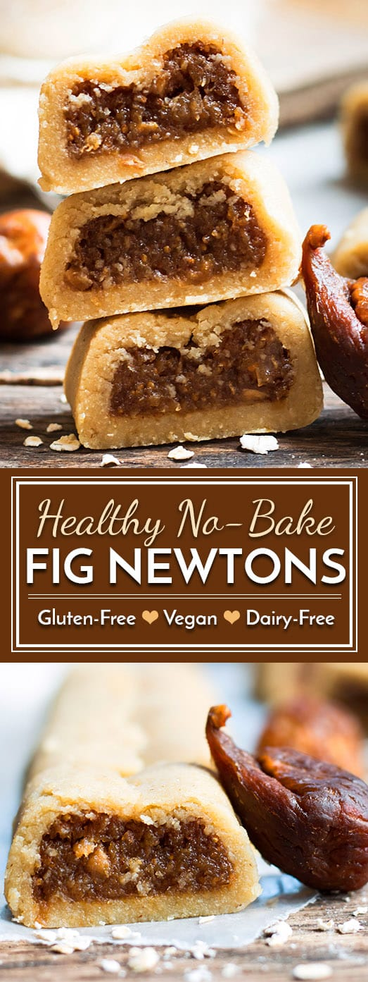 These healthy gluten-free Fig Newtons are a wonderful adult and kid-friendly cookie recipe. They do not require any baking, arerefined sugar-free (i.e. naturally sweetened), vegan, and dairy-free, too!
