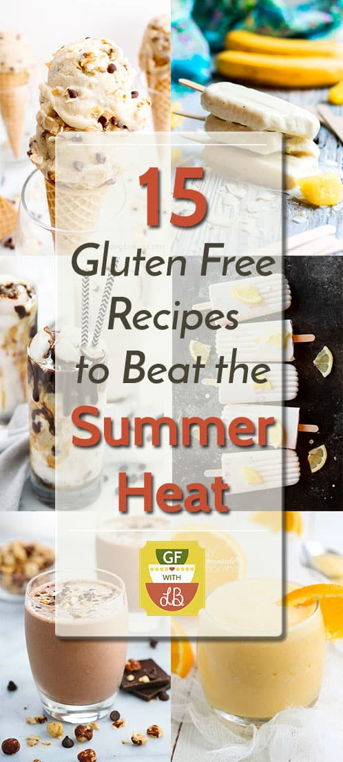 15 Gluten Free Recipes to Beat the Summer Heat | Refreshing summer recipes from some of the best food bloggers. Smoothies, non-alcoholic drinks and frozen treats are all featured in this recipe round-up!