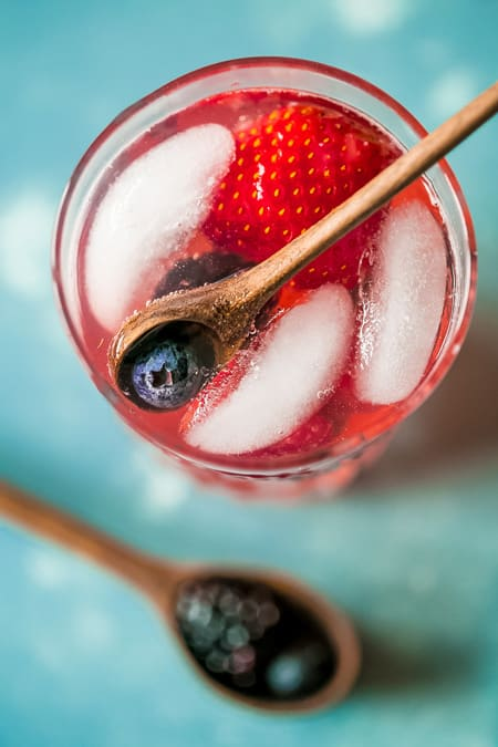 Sparkling Berry Basil Lemonade from Sweet C's Designs