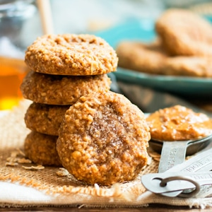 Almond Butter Cookies | A kid-friendly afternoon snack.