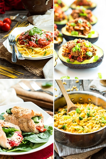 Easy Gluten Free Dinner Recipes from Gluten Free with L.B. | Easy chicken, beef and vegetarian gluten free dinner recipes that are quick and easy for busy weeknight meals!