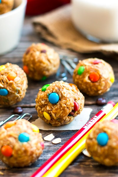 Healthy Monster Cookie Bites (with Video)