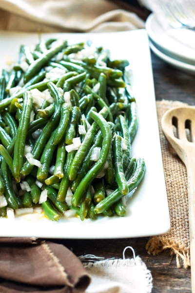 15 Minute Green Beans with Vinegar