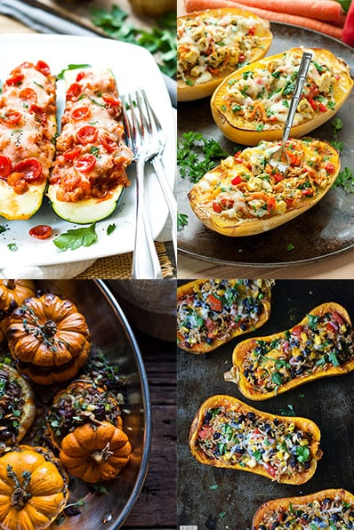 15 Gluten Free Stuffed Squash Recipes | Stuffed squash recipes that are perfect for a quick and easy, healthy weeknight dinner recipe that your family will love!
