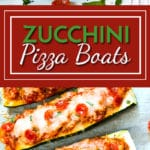 Pizza Zucchini Boats with Pepperoni and Sausage   A healthy, low-carb, pizza zucchini boat recipe that is full of Italian sausage, Mozzarella and pepperonis.