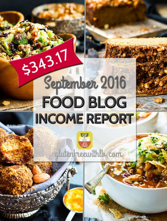 Food Blog Income Report | September 2016