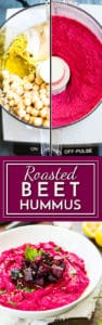 Roasted beet hummus makes a healthy vegan and gluten-free appetizer.  Serve this beet hummus recipe with lentil chips, vegetables or gluten-free pretzels for the ultimate party dip!