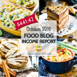 Food Blog Income Report | October 2016