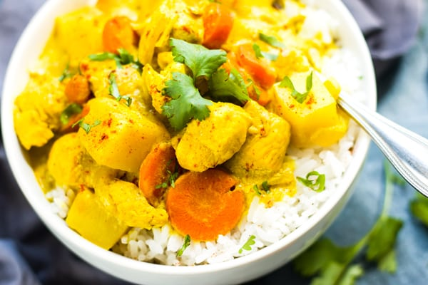 Thai Yellow Chicken Curry with Carrots & Potatoes