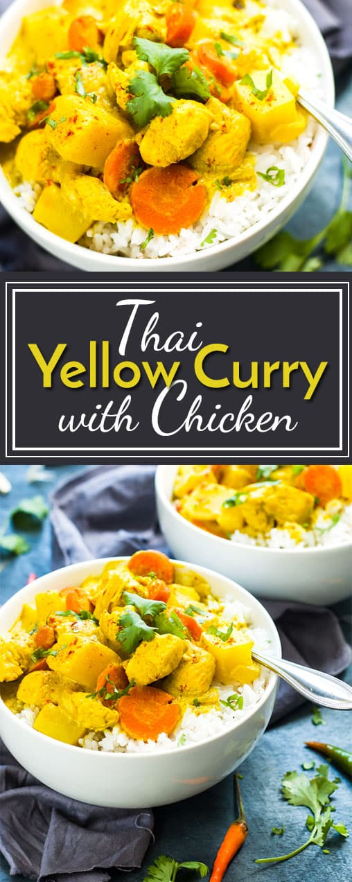 Thai Yellow Chicken Curry Recipe with Carrots & Potatoes