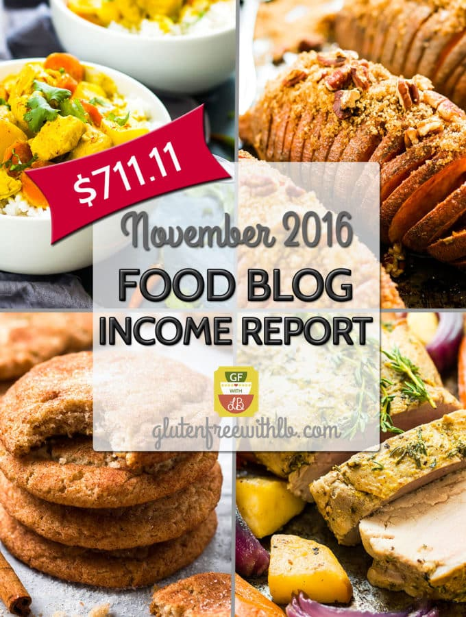 Food Blog Income Report | November 2016