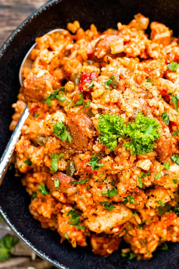 Sausage & Chicken Cajun Jambalaya | Gluten-Free