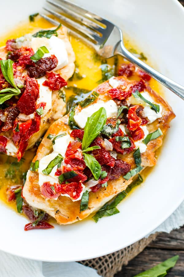Sun-Dried Tomato & Goat Cheese Chicken