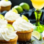 Margarita Cupcakes with Tequila Lime Frosting | Margarita cupcakes are finished with a tequila and lime buttercream frosting for the ultimate Cinco de Mayo or Spring dessert. The margarita cupcakes are made with your favorite margarita mix and fresh lime zest for a super flavorful dessert recipe!