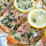 Basil Lemon Baked Salmon in Foil Recipe | Low-Carb, Keto, Healthy Seafood Dinner