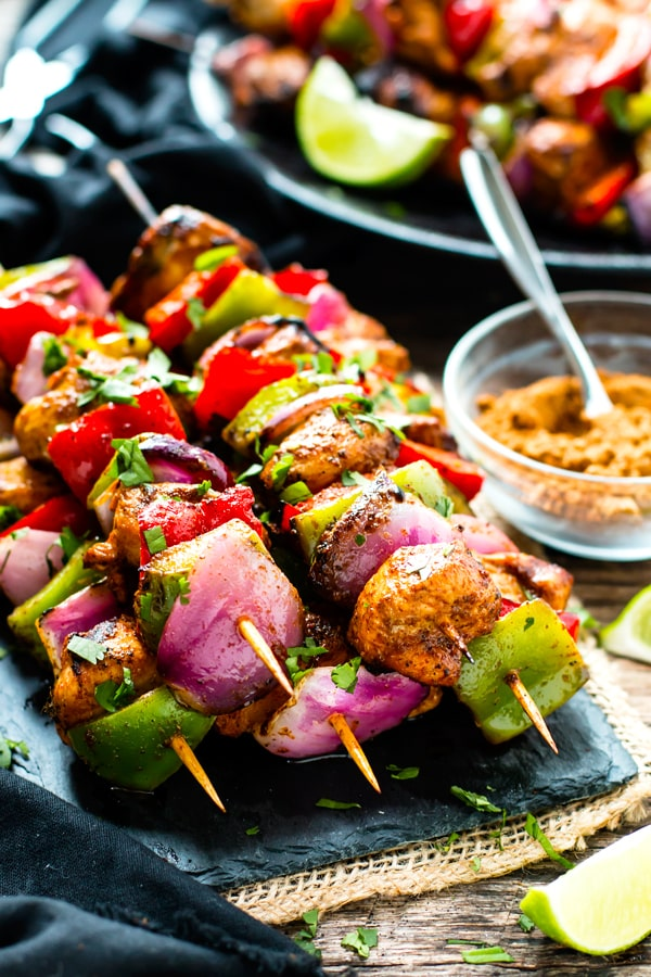 Grilled Fajita ChickGrilled Fajita Chicken Kabobs with Vegetables | Healthy, Gluten-Free, Low-Carb, Paleoen Kabobs with Vegetables are a healthy gluten-free, Paleo and low-carb appetizer or dinner recipe that can be served up over rice or eaten in tacos!