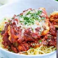 Easy chicken parmesan is an Olive Garden copycat recipe.