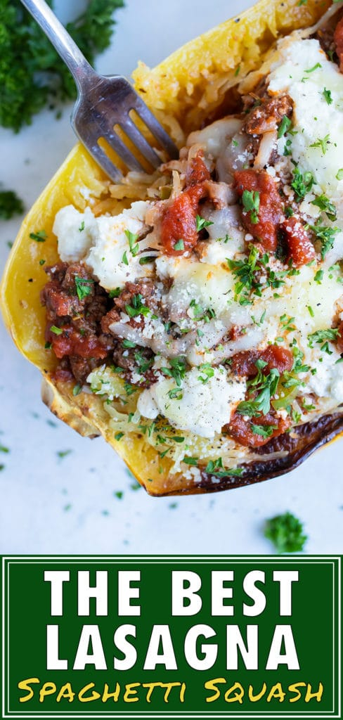 Make an Italian-inspired dinner with these healthy lasagna spaghetti squash boats.