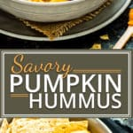 Savory Pumpkin Hummus gets a bit of a kick from a few special ingredients! This pumpkin hummus recipe makes an awesome Fall or Thanksgiving appetizer that isgluten-free, dairy-free, and vegan.