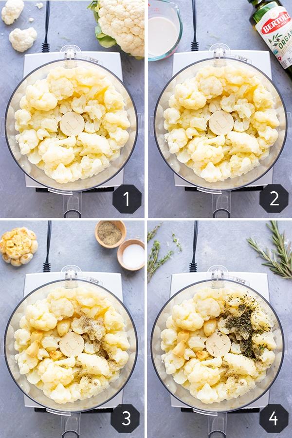 Mashed Cauliflower Recipe with Garlic | Cauliflower Mashed Potatoes | Low-Carb, Keto, Vegan, Whole30, Paleo