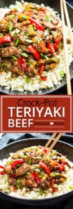 Slow Cooker Beef Teriyaki is a Whole 30 and Paleo-approved Crock-Pot recipe!  With only 15 minutes of prep time, this low-carb recipe makes a wonderfully healthy dinner recipe for those busy weeknights. Simply throw all of the ingredients in your Crock-Pot and have a healthy dinner on the dinner table with little effort!