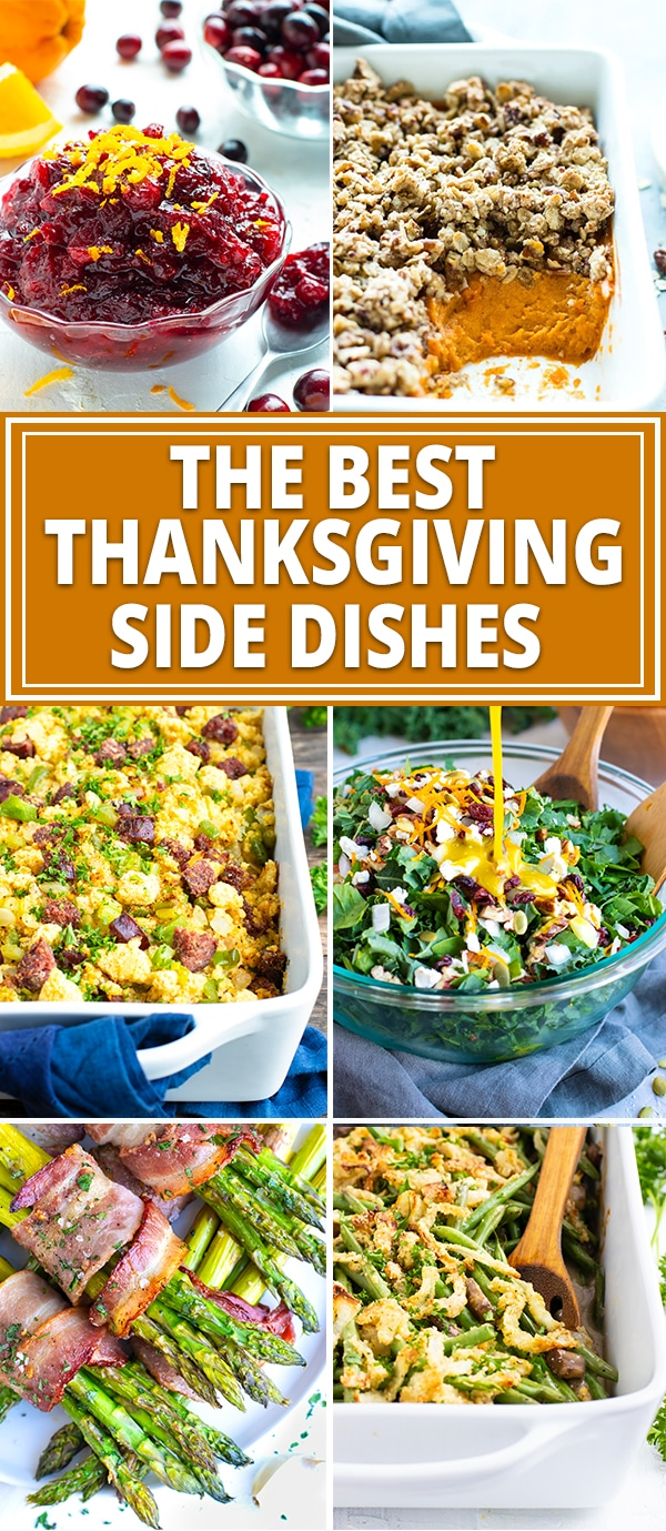 The BEST Thanksgiving Side Dishes | From Instant Pot mashed potatoes to sweet potato casserole to green bean casserole and a  sweet potato casserole recipe, this guide has all of the gluten-free and healthy Thanksgiving side dishes you have been craving this year!  You will find the absolute BEST easy Thanksgiving sides that also happen to be gluten-free, dairy-free, Paleo, and many are vegan, too! #evolvingtable #Thanksgiving #sides #sidedishes #healthy #glutenfree