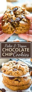Super Soft Paleo Chocolate Chip Cookies with Pecans | Super soft, extra crunchy, and FULL of chocolate... these Paleo chocolate chip cookies with pecans just might be your new go-to grain-free, gluten-free, dairy-free and vegan chocolate chip cookie recipe!