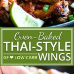 Perfectly sticky, sweet and a bit spicy, baked Thai chicken wings will be a new game day recipe favorite inyour house! This easy chicken wings recipe is oven-baked, low-carb, refined sugar-free, gluten-free, dairy-free, and absolutely addicting!