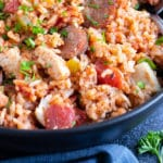 Chicken and Sausage Cajun Jambalaya Recipe | Easy, Authentic, Mardi Gras Recipe