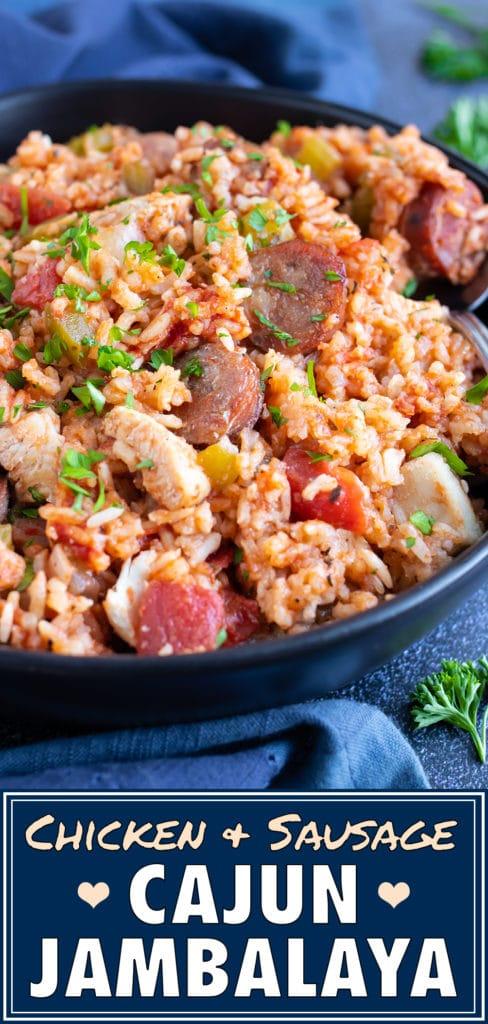 Chicken and Sausage Cajun Jambalaya Recipe | Easy, Authentic, Mardi Gras Recipe