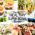 Healthy Super Bowl recipes are SO hard to find!  In order to help you out a bit, I have rounded up my 15 FAVORITE gluten-free, vegetarian, vegan, or Paleo appetizer recipes!