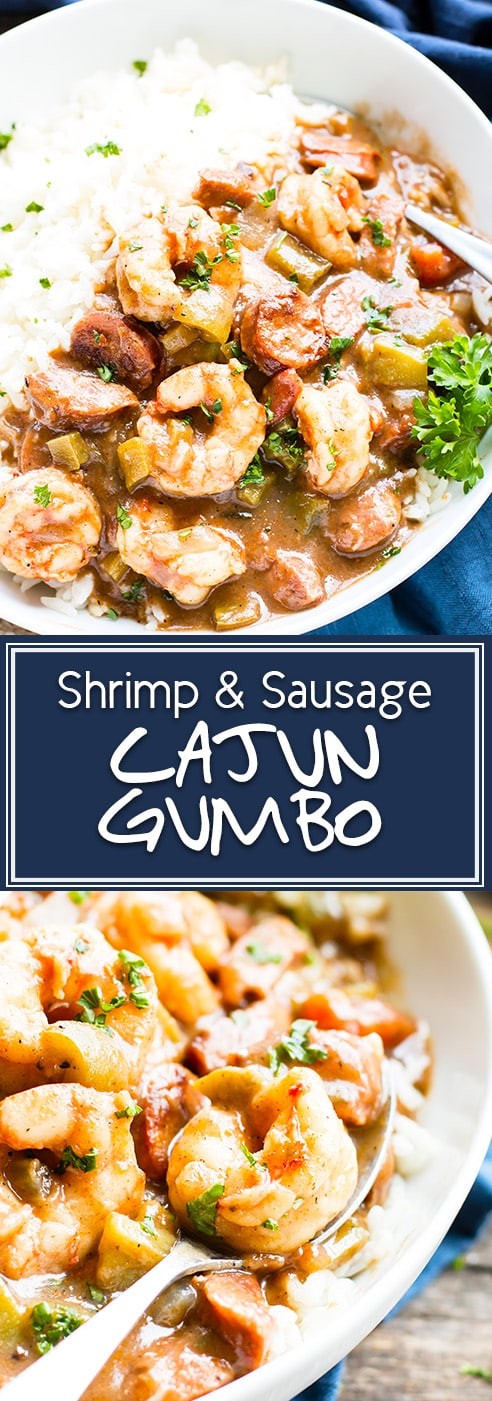 """Cajun Shrimp & Sausage Gumbo 