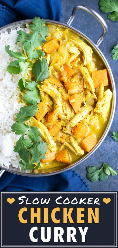 Slow Cooker Yellow Chicken Curry with Coconut Milk | Easy Crock-Pot Recipe