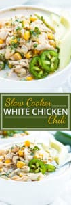 Dairy-Free Slow Cooker White Chicken Chili | A comforting and cozy recipe for dairy-free slow cooker white chicken chili that will keep you warm and healthy during these cold winter months! This Crock-Pot chilirecipe is gluten-free, soy-free, low-fat, and can easily be made dairy-free.