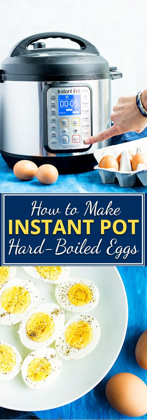 Instant Pot Hard-Boiled Eggs | Learn how to make Instant Pot hard-boiled eggs that are foolproof! This method makes perfectly smooth yolks, firm whites, and easy peel hard-boiled eggs. You'll learn how long you boil hard-boiled eggs, how to peel hard-boiled eggs, and how long they will last in the refrigerator, too!