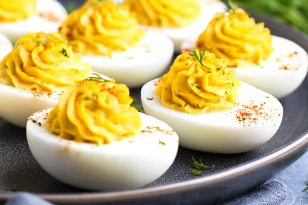 Healthy paleo deviled eggs for a quick appetizer.