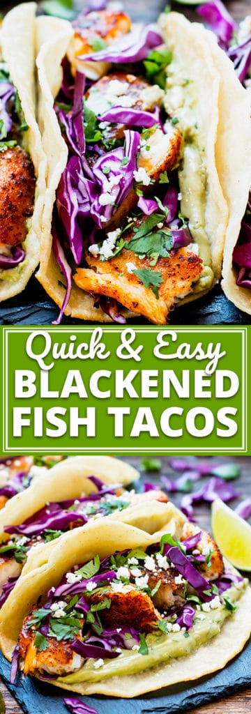 Quick & Easy Blackened Fish Tacos