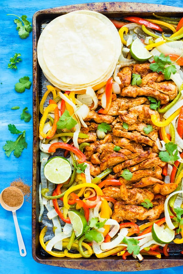 Oven-Baked Sheet Pan Chicken Fajitas