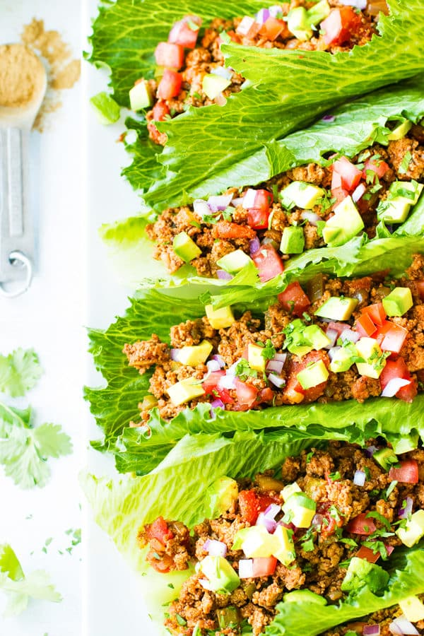 Ground Turkey Taco Lettuce Wraps | Keto