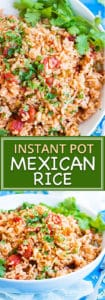 Easy Instant Pot Mexican Rice Recipe | This easy Mexican rice recipe is one of the most flavorful and simplest to make Instant Pot rice recipes.  It is a delicious gluten-free, dairy-free, and soy-free side dish recipe that tastes great alongside chicken fajitas or tacos.