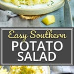 Easy Southern Potato Salad Recipe | This Southern Potato Saladrecipe is so easy to make by starting with Instant Pot potatoes! You can make this easy potato salad the night before and have it ready to go for your July 4th, Labor Day, or backyard BBQ party.
